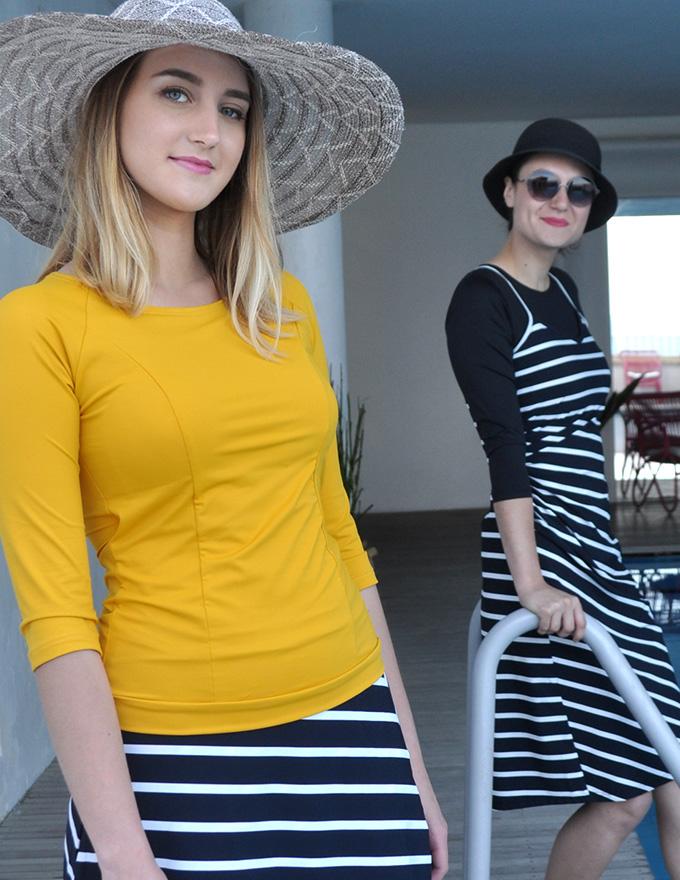 בגד ים עם חצאית או שמלה