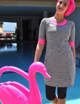 בגדי ים לנשים דתיות - צבע ורוד
