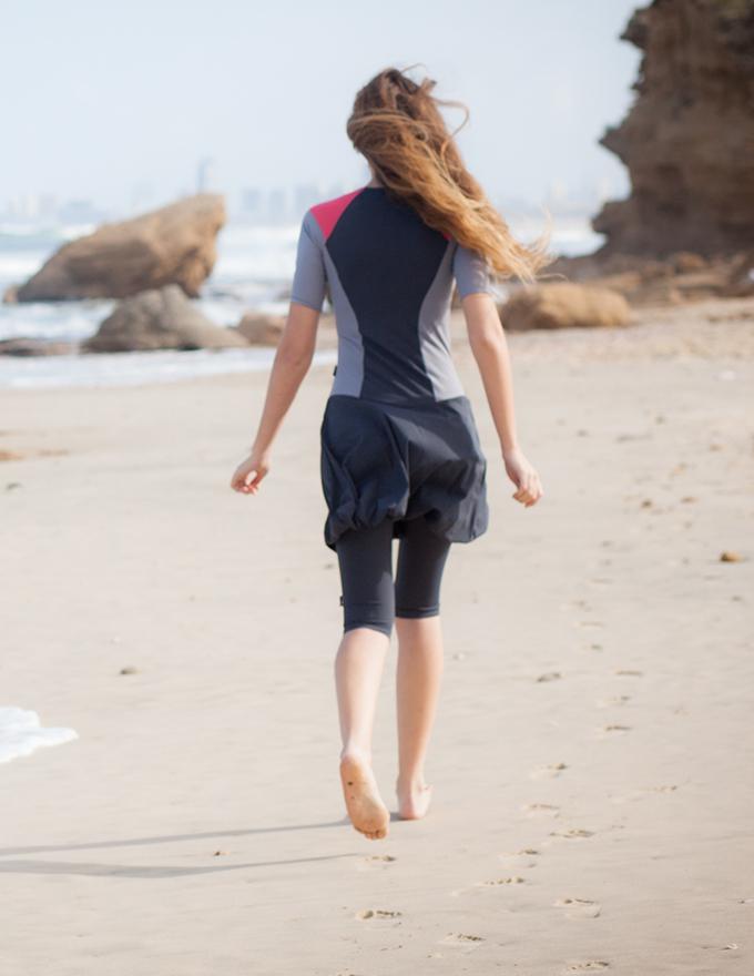 בגד ים עם חצאית בלון